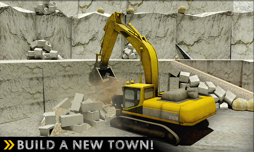 Město Stavební Kopec Řídit - Crane Simulator 2017 - náhled