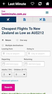 Cheap Flights New Zealand Screenshot