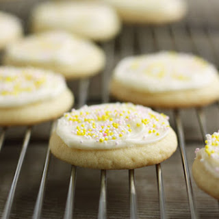 Lemon Sugar Cookies with Lemon Cream Cheese Frosting.