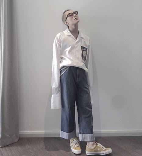 Quần ống rộng nam mặc với áo gì? Cách phối đồ chuẩn men hot trend 2021 3