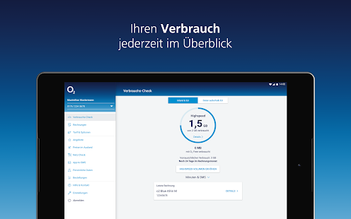 Mein o2 Screenshot
