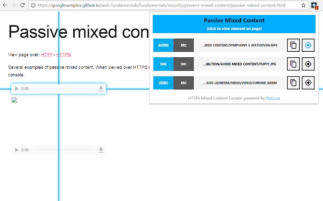 HTTPS Mixed Content Locator