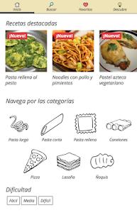 Recetas de Pasta y Pizza - náhled