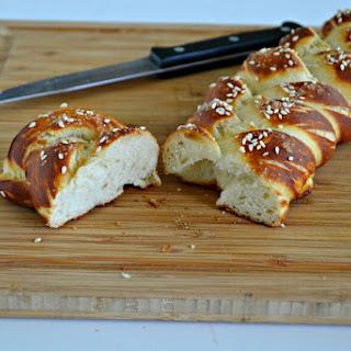Vegan Hot Pretzel Challah Bread.