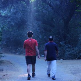 Morning walk... by Shubhendu Bikash Mazumder - People Street & Candids ( morning walk, nature, poeple, photography, on the move )