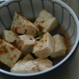 Easy Steamed Tofu with Dipping Sauce