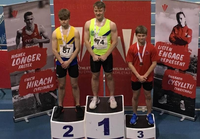 Harriers medal at Welsh Indoors