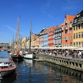 Nyhavn, Copenhagen by Roger Gulle Gullesen - City,  Street & Park  Historic Districts