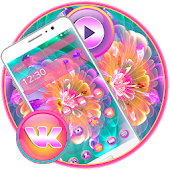 Colorful Shiny Flowers Theme