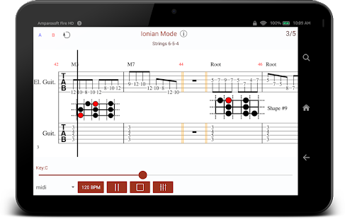 Intuitive Guitar - Major Scale Modes Screenshot