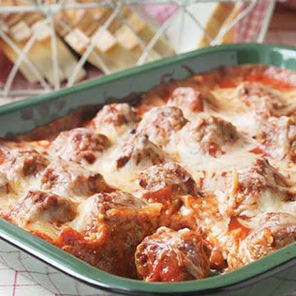 Meatball And Noodle Baked Casserole