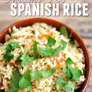 Instant Pot Spanish Rice.