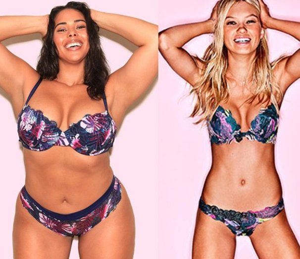 6972a610d66 Curvy girls can sell lingerie too  plus-size model recreates Victoria s  Secret ads