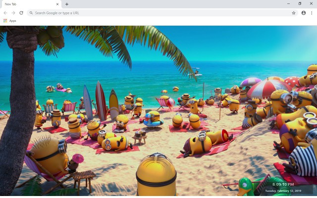Minion Rush New Tab & Wallpapers Collection