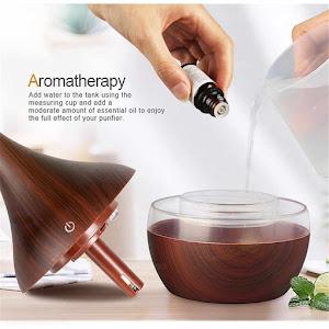 Difuzor aromaterapie cu 7 culori LED , 300 ml, cablu USB, wenge