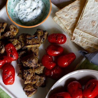 {Kabab Chenjeh} Grilled Saffron Beef Kebab with Blistered Tomatoes