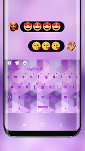 Classic Purple Keyboard for Oppo R11s - náhled