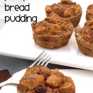 Pumpkin Bread Pudding Cups.