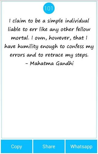 101 Great Saying By M'Gandhi