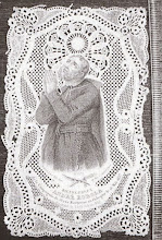 Photo: Koronkowy obrazek z XIX w z półpostacią św. Andrzeja Boboli, wykonany w stalorycie, którego niestety nie mam w oryginale.