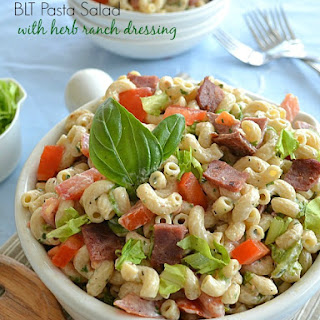 BLT Pasta Salad with Herb Ranch Dressing.