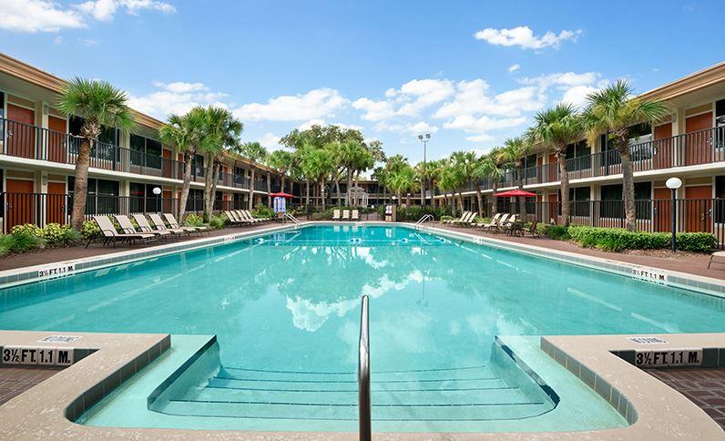Resort-style swimming pools at Ramada Gateway