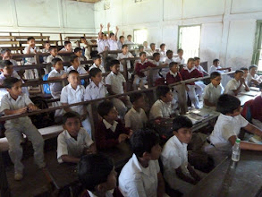 """Photo: typical classroom - almost """"emptied"""" for our visit."""
