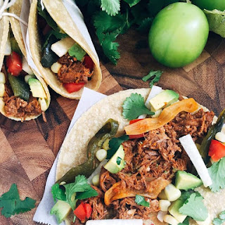 Slow Cooker Shredded Beef Barbacoa Tacos