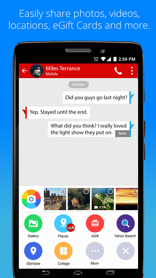 Verizon Messages Android 3