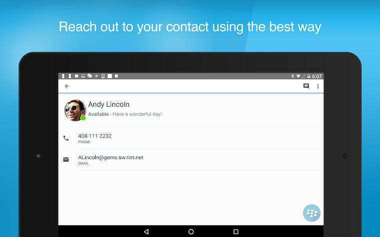 BlackBerry Connect Screenshot