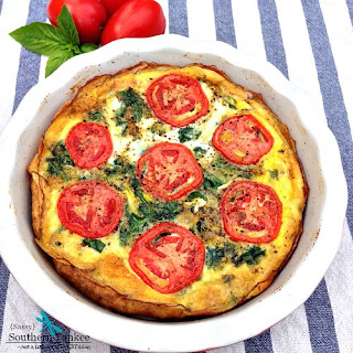 BLT Quiche with Potato Crust - Low Carb and Whole 30 Approved.