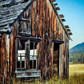 On the Range by Anthony Balzarini - Buildings & Architecture Decaying & Abandoned ( #abandond, #farmhouse, #oldfarm, #old, #montana, #shkies, #bigsky,  )