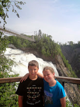 Photo: Before we drove back to Boston, we stopped at Montmorency Falls