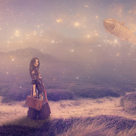 Traveler... by Ilkgul Caylak - Digital Art People ( nature, edited, photoshop, girl )