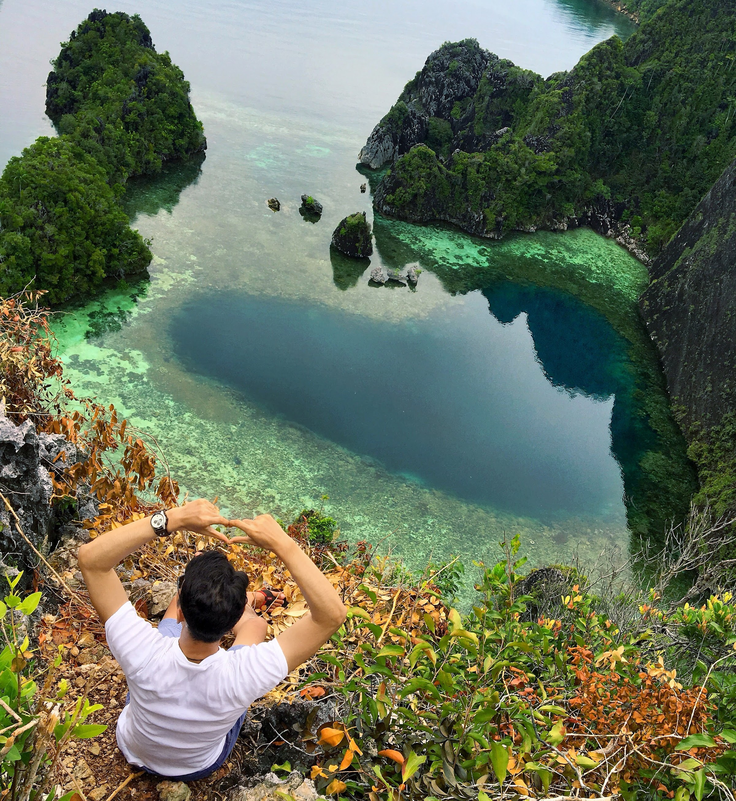 Laguna Berbentuk Hati di Dafalen, Misool