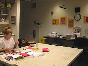 Photo: Kasha is making christmas cards in the Crafts Room