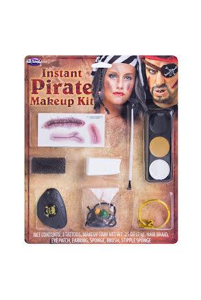 Karibisk pirat makeup