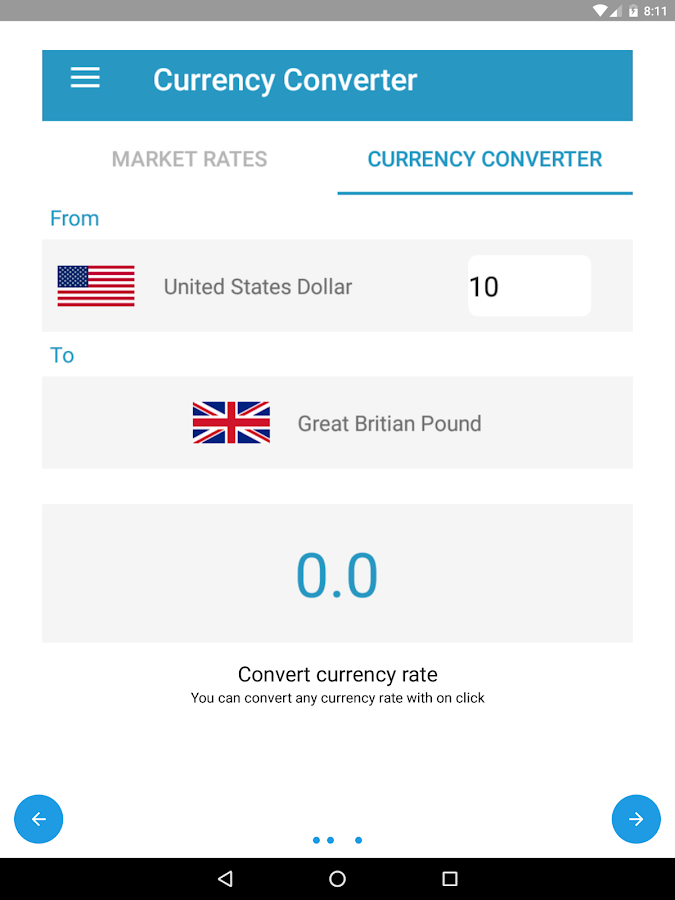 US Dollars Currency Converter- screenshot