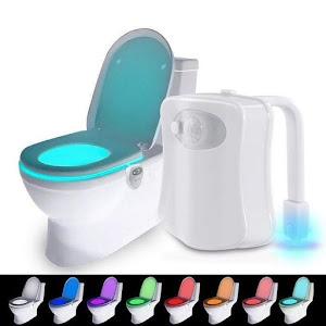 Lampa led pentru vasul de toaleta cu senzor de miscare si 8 lumini