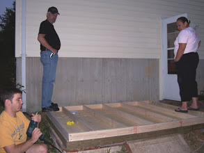 Photo: On this day, my entire family came over to help! It was great! We focused on getting the walls framed. Here, we're framing the back wall of the shed.
