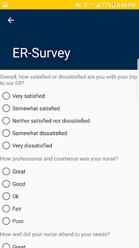 ER Satisfaction Survey