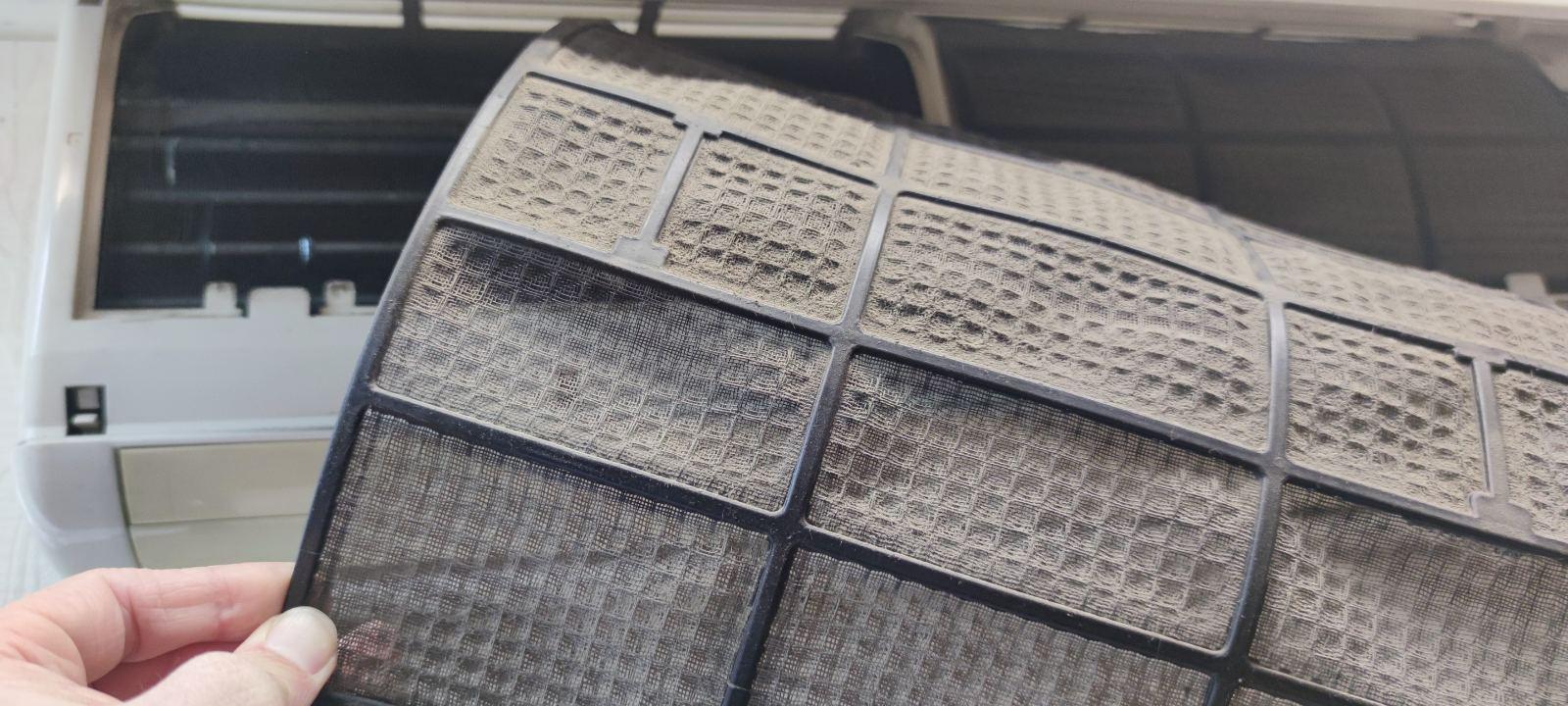 чистка фильтра кондиционера