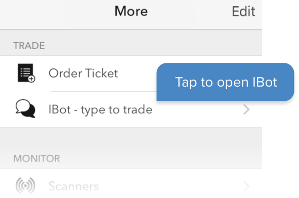 Interactive Brokers iBot