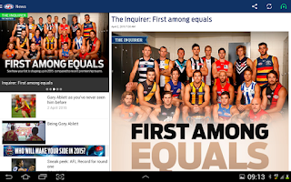 Screenshot of AFL Live Official App