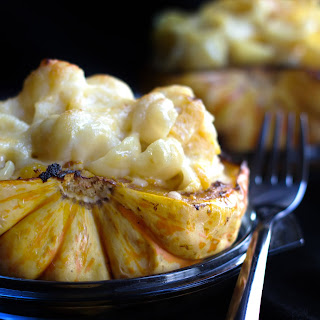 Cheesy Pasta Stuffed Roasted Squash