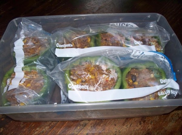 Place your peppers in a gallon freezer bag about 3 to 4 peppers per...