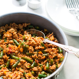 Ground Turkey Skillet with Green Beans.