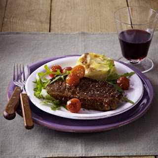Sirloin Steaks with Potato Gratin