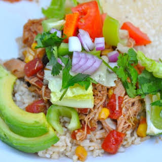 Crock Pot Chicken Taco Bowls.