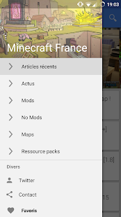 Appli Minecraft-France – Vignette de la capture d'écran